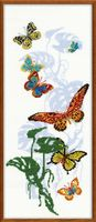 """Вышивка крестом """"Экзотические бабочки"""" (220х500 мм)"""