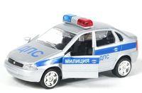 """Модель машины """"Lada Kalina. ДПС"""" (серебристая)"""