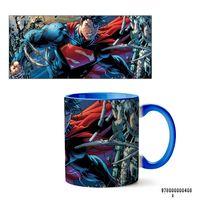 """Кружка """"Супермэн из вселенной DC"""" (408, голубая)"""