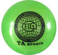 Мяч для художественной гимнастики RGB-102 (15 см; зелёный с блёстками)