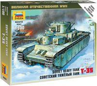 Советский тяжелый танк Т-35 (масштаб 1/100)
