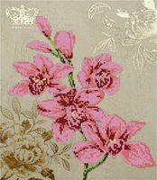 """Канва с нанесенным рисунком """"Орхидея 2"""""""