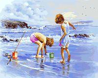 """Картина по номерам """"Дети на море"""" (400х500 мм)"""
