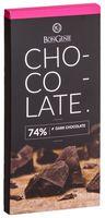 """Шоколад темный """"BonGenie. 74%"""" (100 г)"""