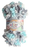 """Пряжа """"ALIZE. Puffy Fine Color №5939"""" (100 г; 14,5 м; секционный)"""