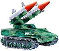 """Сборная модель из бумаги """"Зенитно-ракетный комплекс"""""""