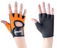 Перчатки для фитнеса SU-107 (M; оранжевые/чёрные)