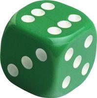 """Кубик D6 """"Симпл"""" (зеленый)"""