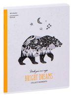 """Тетрадь полуобщая в клетку """"Рисунки. Bright Dreams"""" (48 листов)"""