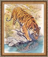 "Алмазная вышивка-мозаика ""Тигр у реки"""