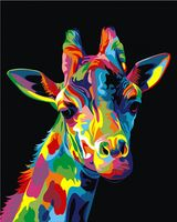 "Картина по номерам ""Ваю Ромдони. Радужный Жираф"" (400х500 мм)"