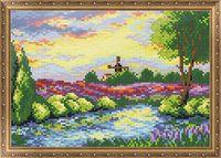 "Алмазная вышивка-мозаика ""Вечерняя река"" (350х300 мм)"