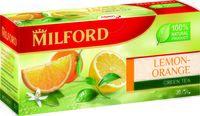 """Чай зеленый """"Milford. Лимон-апельсин"""" (20 пакетиков)"""