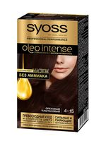 """Краска для волос """"Oleo Intense"""" тон: 4-15, ореховый каштановый"""