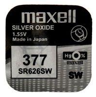 Батарейка SR626SW 377 Maxell из оксида серебра