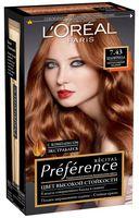 """Краска для волос """"Preference"""" (тон: 7.43, Шангрила интенсивный медный)"""