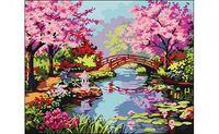 """Картина по номерам """"Весенний сад"""" (400x500 мм)"""