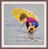 """Вышивка крестом """"Солнечный зонтик"""" (400х360 мм)"""
