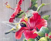 """Вышивка бисером """"Красные лилии"""" (230х280 мм)"""