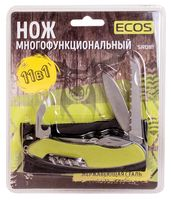 """Нож Ecos """"SR081"""" (11 функций; зелёный)"""