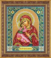"""Вышивка бисером """"Пресвятая Богородица Казанская"""" (195х230 мм)"""