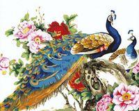 "Картина по номерам ""Китайские павлины"" (400х500 мм)"