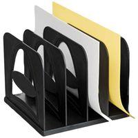 Лоток вертикальный (4 отделения; черный)