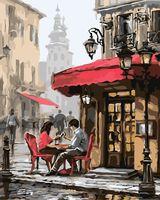 "Картина по номерам ""Летнее кафе"" (300х400 мм)"