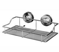 Полка для ванной металлическая на присосках (250х142х95 мм)