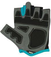 Перчатки для фитнеса SU-117 (L; чёрные/серые/голубые)