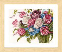 """Вышивка крестом """"Красивые цветы"""" (400х300 мм)"""