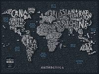 "Скретч-карта ""Letters World"" (800х600 мм)"