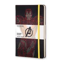 """Записная книжка Молескин """"Iron Man"""" в линейку (большая; твердая черная обложка)"""