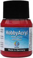 "Краска акриловая матовая ""Hobby Acryl matt"" (красный металлик; 59 мл)"