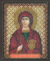 """Вышивка бисером """"Икона святой великомученицы Анастасии"""""""