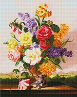"Алмазная вышивка-мозаика ""Цветы в вазоне"""