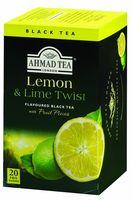 "Чай черный ""Ahmad Tea. Lemon and Lime Twist"" (20 пакетиков)"