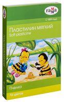 """Пластилин восковой """"Пчелка"""" (16 цветов)"""