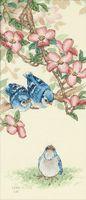 """Вышивка крестом """"Голубые птенцы"""" (арт. DMS-13728)"""