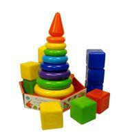 """Игровой набор """"Радуга Макси"""" (пирамидка и кубики)"""
