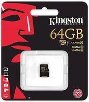 Карта памяти micro SDXC 64Gb KINGSTON Class 10 UHS-I U1 R/W 90/45 MB/s без адаптера (SDCA10/64GBSP)