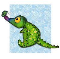 """Набор для шитья из ткани """"Счастливый крокодил"""""""