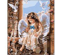 "Картина по номерам ""Девочка ангел"""