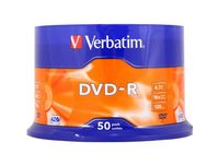 Диск DVD-R 4.7Gb 16x Verbatim CakeBox 50