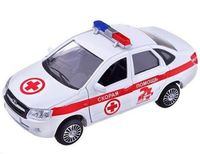 """Модель машины инерционная """"Lada Granta. Скорая помощь"""" (масштаб: 1/36)"""