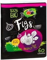 """Тетрадь общая в клетку """"Organic Product"""" (60 листов; в ассортименте)"""