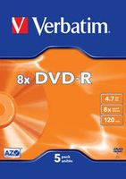 Диск DVD-R 4.7Gb 4x Verbatim VideoBox (в упаковке 5 штук)