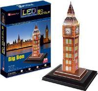 """Сборная модель из картона """"Биг бен с иллюминацией"""" (Великобритания)"""