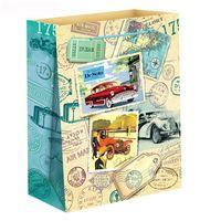 """Пакет бумажный подарочный """"Путешествие"""" (23х27х8 см; арт. 10733146)"""
