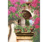 """Канва с нанесенным рисунком """"Цветочный балкон"""""""